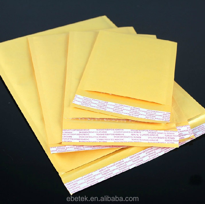 Customized design color kraft bubble envelope with peal & seal