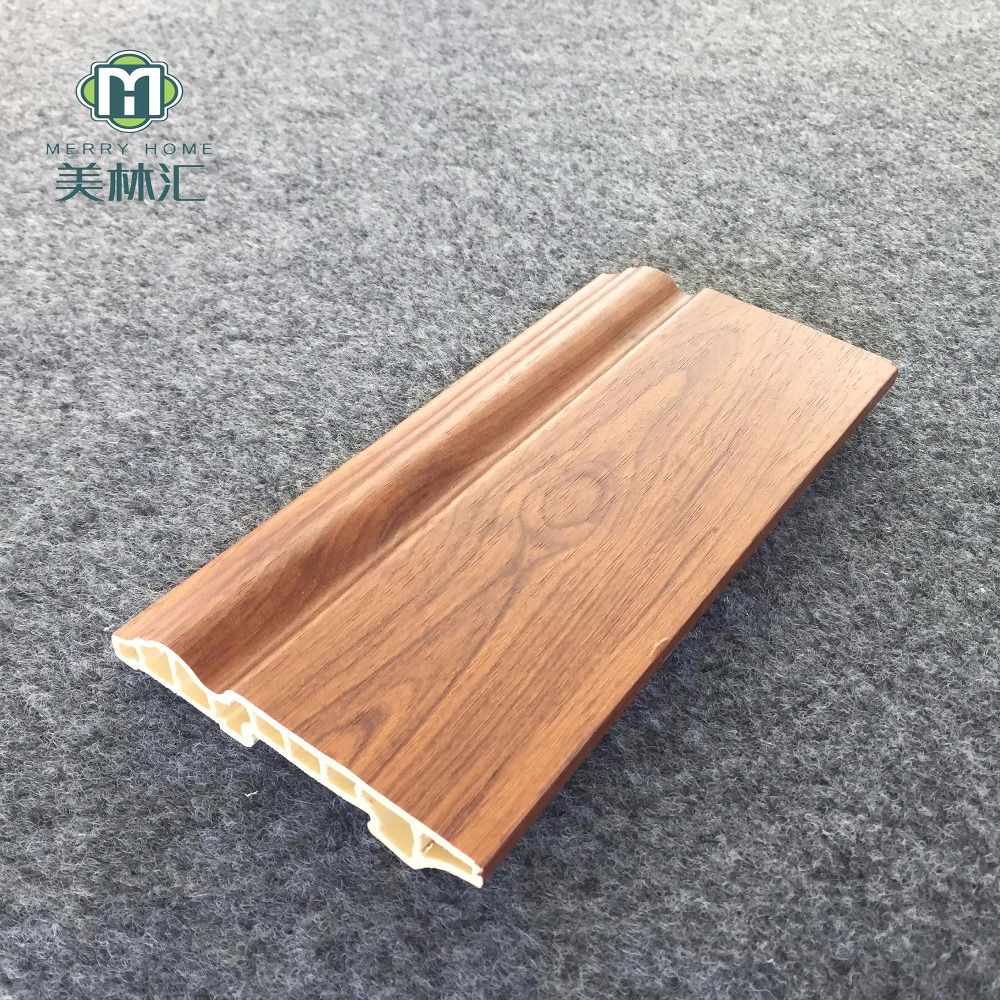 100mm floor baseboard PVC skirting board manufacture