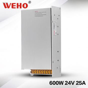 600w 24v constant voltage S-600-24 led power supply industrial power supply 24v