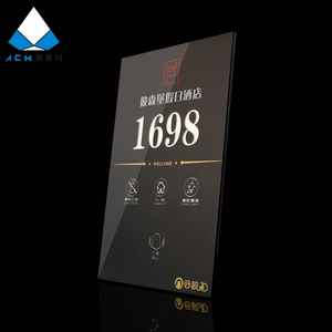 square shape LED room electronic door number doorplate for hotel