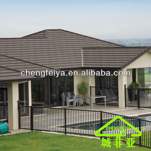 Classic Style Stone Coated Steel Roofing Tile / Metal Roofing Material