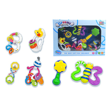 Lovely colorful safety plastic shaking baby rattle toys for infant