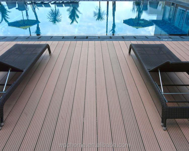 Wood plastic composite floor grey embossed wpc decking for balcony