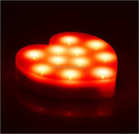 Christmas Holiday Heart Shape LED Light Decorations Powered by AAA Battery