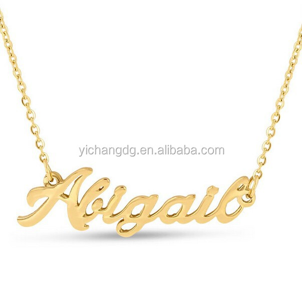 Wholesale Designer Name Necklace Jewelry Gold Plated Brand Name Necklace