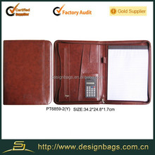 2015 New product business man a4 leather portfolio