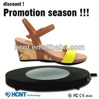 new invention ! magnetic levitating led display stand for shoe woman,made to measure shoes