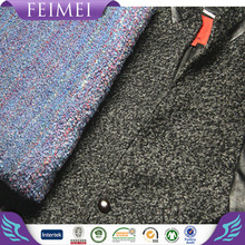 China manufacturer 65%wool 35%acrylic coloured cricle design wool fabric for coat