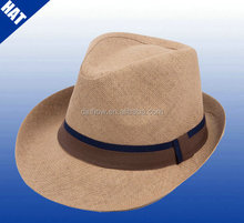 High quality straw vintage fedora jazz hats for adult mens