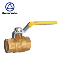 Green Guten-topbest selling brass natural gas ceramic water ball valve