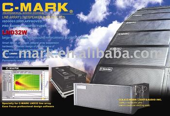 "Large Active Line Array Speaker (2x12"") Powered by Digital Amplifiers - C-Mark"