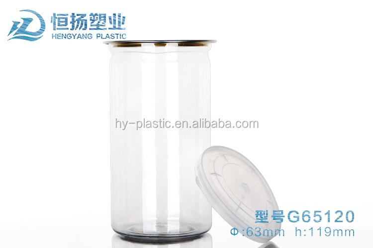 High quality plastic can tinplate PET plastic easy open can