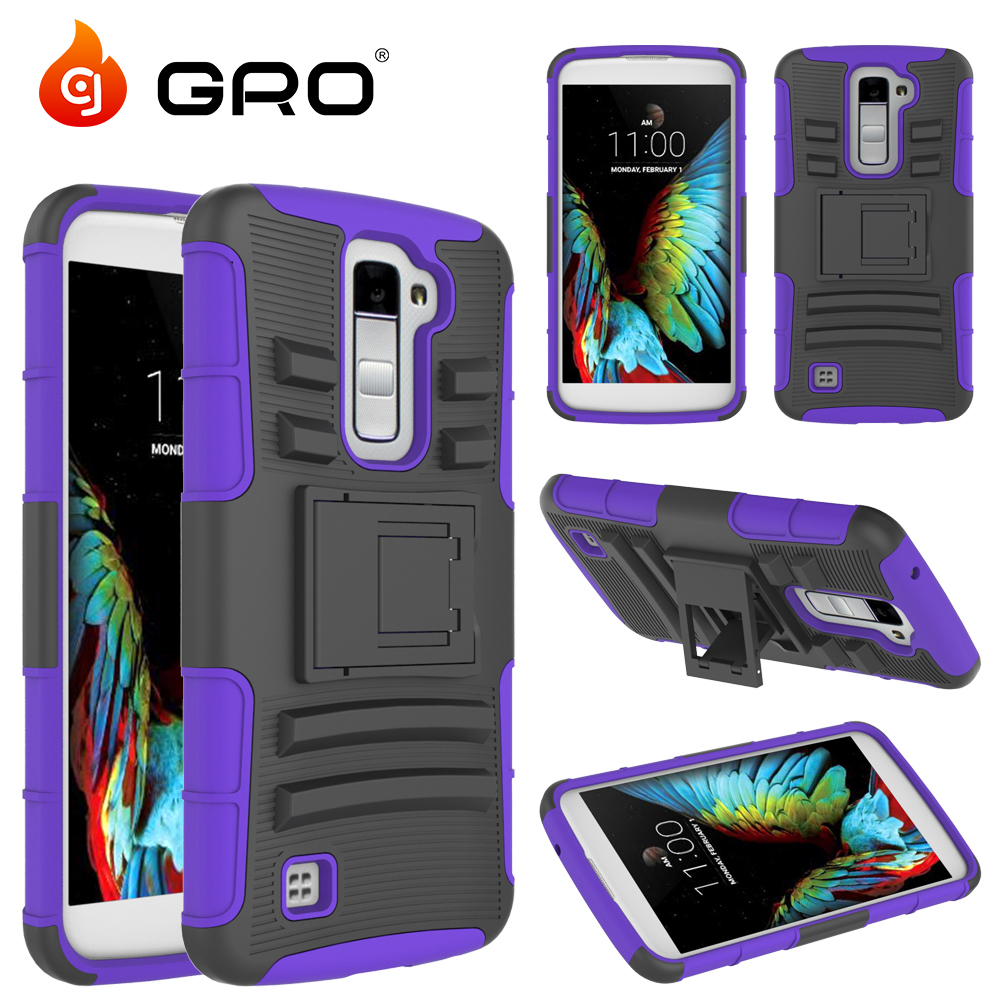 Hot Sales Cell Phone Case For LG K10,Silicone+PC Hybird Combo Holster Case For LG K10