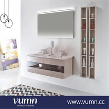 Top quality new modern fashion white plywood small bathroom vanities wall cabinets for bathroom latest wooden furniture