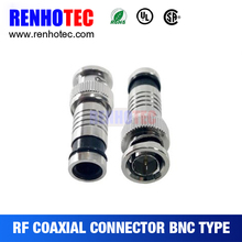 Factory Price Straight Plastic Screw Compression BNC plug for RG6 RG59