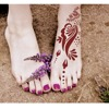 New arrival hot selling body painting body art Foot henna tattoo stencil