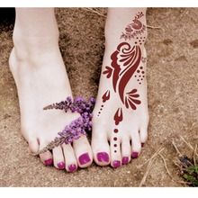 New arrival hot selling tattoo stencil body painting body art Foot henna tattoo stencil