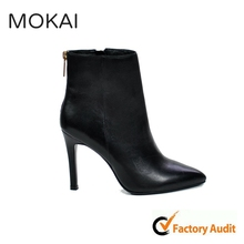 MK006-1 Boot women black sexy leather high heel boots classy leather boots