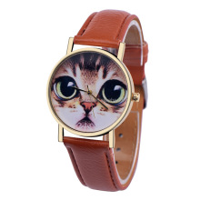 Cute Cat Watch Women PU Leather Wrist Watches Vogue Ladies Casual Analog Quartz Watch New Fashion Clock Relogio Feminino