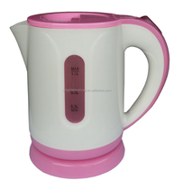 Elegant design 1.0L plastic mini electric tea kettle
