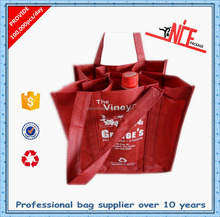 wholesale high quality non woven tote wine bag
