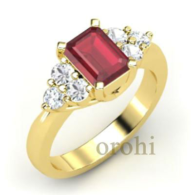 HG339-Ruby- marquise cut ruby rings,baguette ruby gemstone ring,yellow gold diamond wedding bands