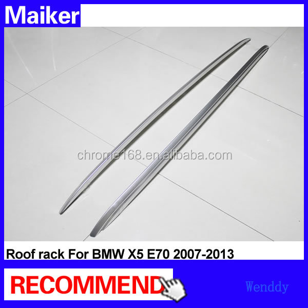 Aluminum car roof rack for bmw x5 E70 2007-2013 car roof rack roof rails luggage rails from Maiker