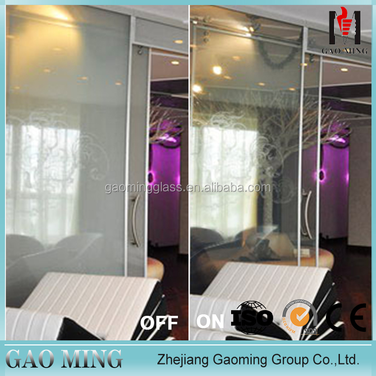 Electronic Privacy Switchable Smart Film use for bathroom/smart glass shower