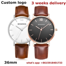 new design fashion ladies watch OEM quartz watches stainless steel waterproof japan movt custom logo leather strap branded watch