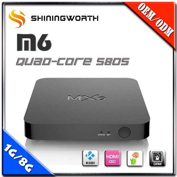 Shiningworth M6 8GB EMMC FLASH 3D Full Display android tv box quad core