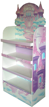 4 Tier Headband Cardboard t Shirt Display Stand