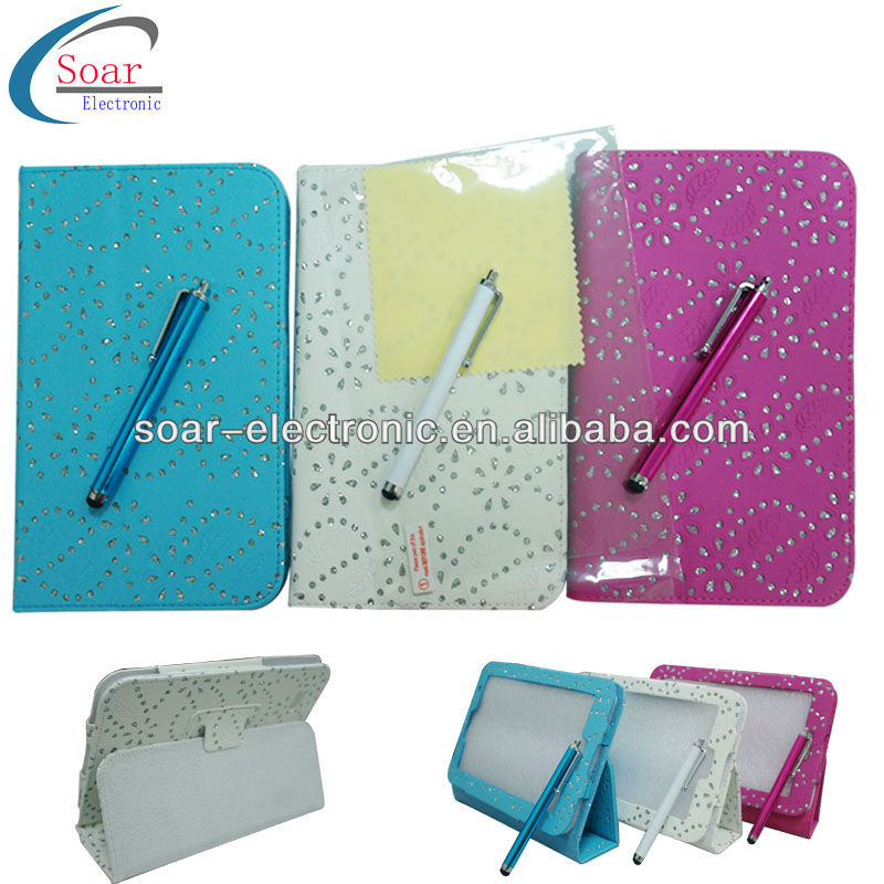 maple leaf leather case cover for samsung galaxy tab2 p3100