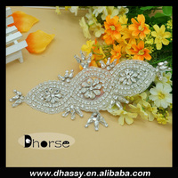 Wholesale glass stone crystal ladies western rhinestone dress belts DH-883