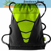Rough Cord Soft Cloth Gym Sack Drawstring Backpack Waterproof Nylon Drawstring Shoe Bag Promotional Gift Drawstring Sports Bag