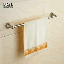 18324 American Unique Design Zinc Alloy Nickel Finishing Bathroom Sanitary Items Wall Mounted Single Towel Bar/towel rail