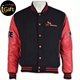 Latest design long sleeve black cotton baseball jackets