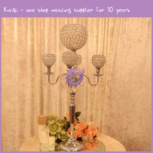 K7395 Kaiqi 5 Arms Wedding Metal Candle Stand, Candelabra, Candle Holder