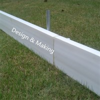 Light weight flexible plastic concrete formwork