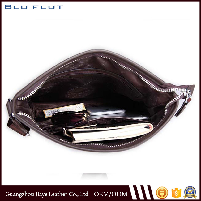 Real Leather Men Crossbody Bag Custom Soft Leather Briefcase for Men