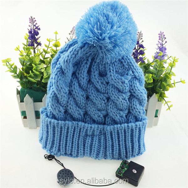 Excellent quality most popular headphone bluetooth gloves knit custom beanie