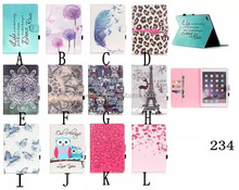 Multi Design 3D Painted Book PU Leather Case For Apple iPad 2 3 4
