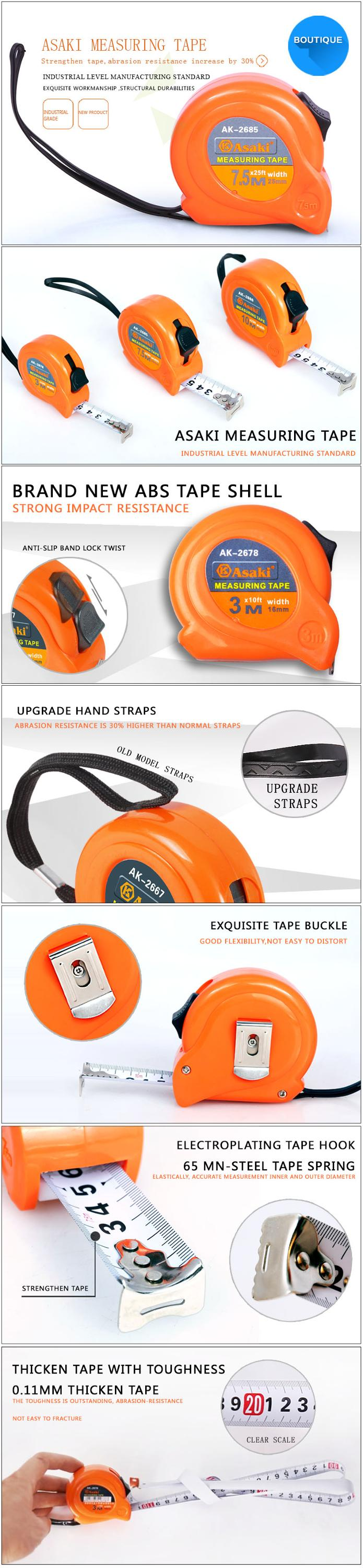 Hot sale 3M/5M/7.5M/10M steel reinforced measuring tape