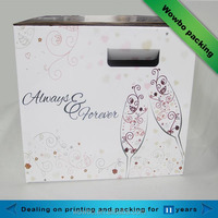 2016 hot sale 2 pack bottle carrier wedding wine gift box