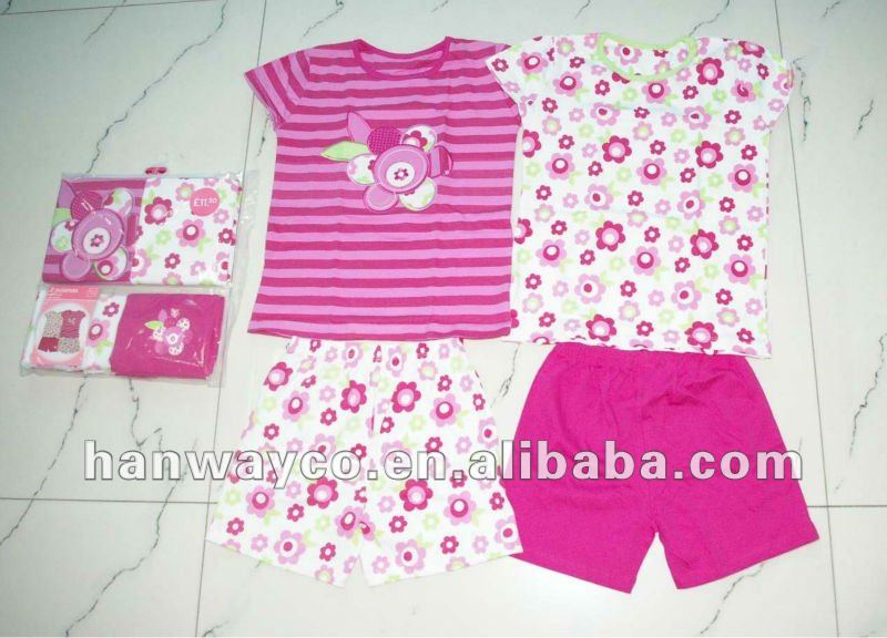 stock hot sale children clothing sets, casual children sets