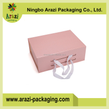 Customized magnetic paper folding foldable cardboard storage box Color Gift Box Paper Box With Ribbon