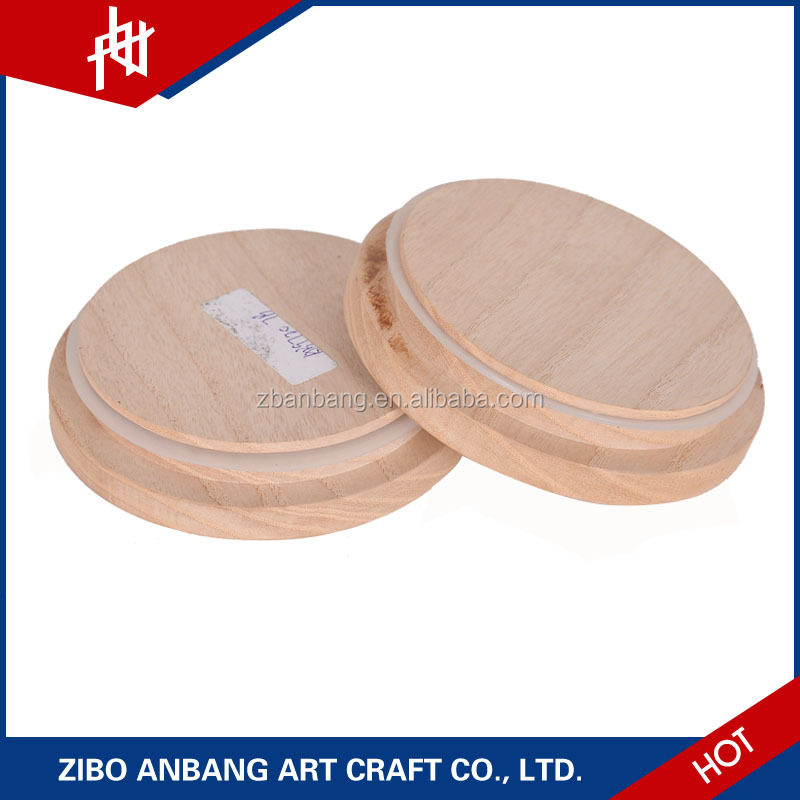 wholesale mason candle canning ceramic jars cups with wooden lids for sale