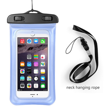 2018 Factory price underwater Cell Phone Neck Ganging Bag Swimming Travel Waterproof Phone Pouch Case for iphone 5 6 6s 7 8 X