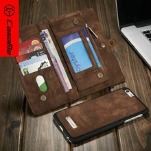 CaseMe For iphone 6 leather case, wallet case for iphone 6plus, professional mobile phone case factory