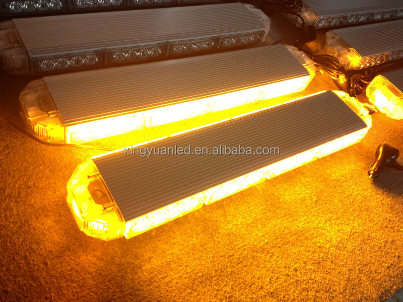 Used LED Mini Lightbar Amber Yellow Warning Strobe Security Light Bar with strong magnet