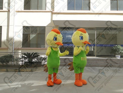 character orange crest and shoes chicken costumes
